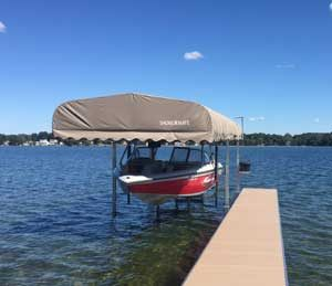 Win a Shore Mate 4500 lbs Hydraulic Boat Lift with Canopy!